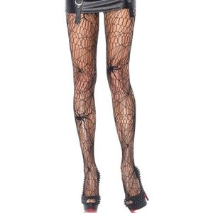 Accessories - Full Length Spiderweb Net Pantyhose